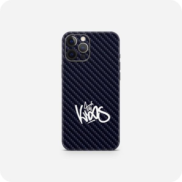 "GREEN MNKY Backcover Skin Smartphone 7"" (Toni Kroos Kollektion) ""Blue Carbon Signature"" [3 Stück]"
