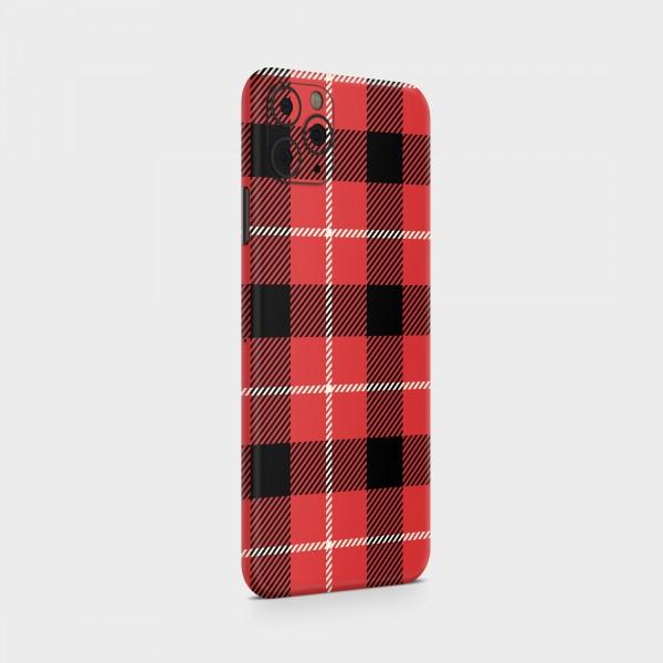 "GREEN MNKY Backcover Skin Smartphone 7"" (Scottish Serie) ""Scottish Caro Red"" [3 Stück]"