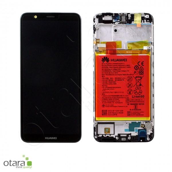Displayeinheit inkl. Rahmen, Akku Huawei P Smart 2018, black, Serviceware