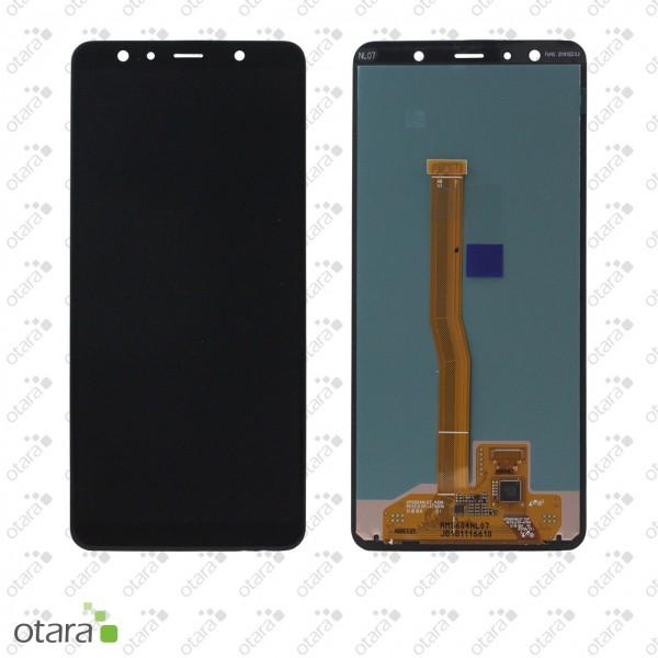 Displayeinheit Samsung Galaxy A7 2018 (A750F), schwarz, Serviceware