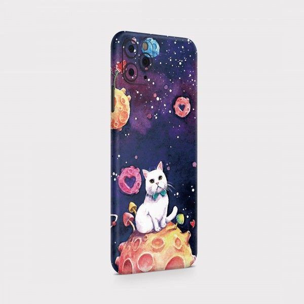 "GREEN MNKY Backcover Skin Smartphone 7"" (Design Serie) ""Cute Universe Cat"" [3 Stück]"