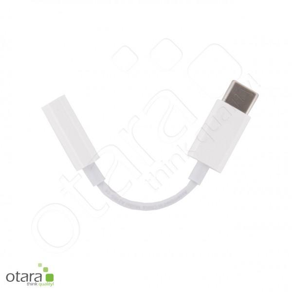 Adapter USB-C auf Kopfhörerbuchse 3,5mm, weiß