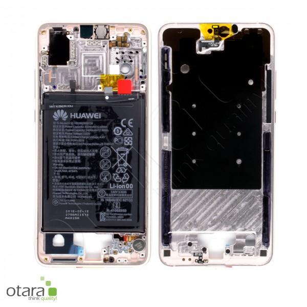 Huawei P20 Mittelrahmen inkl. Akku, pink gold, Serviceware