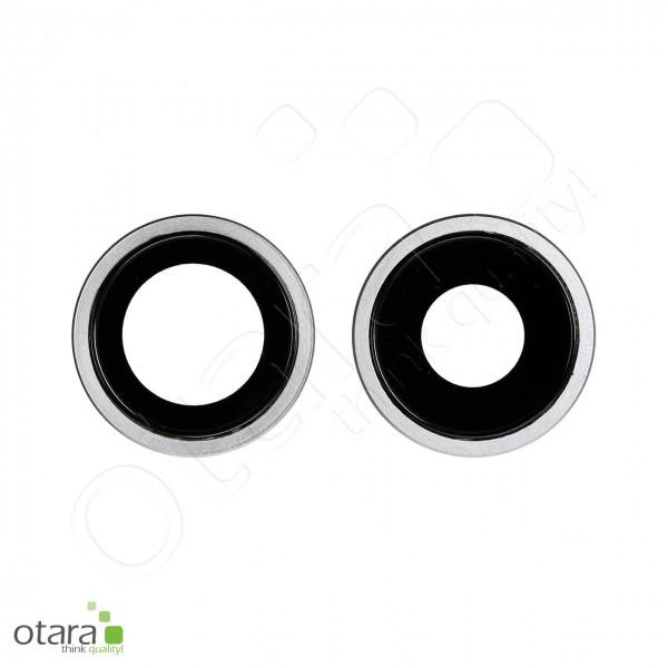 Kameraglas Linse (mit Rahmen) geeignet für iPhone 11 [2 Stück], weiß