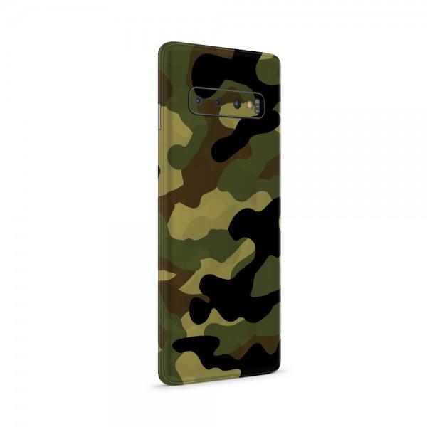 """GREEN MNKY Backcoverfolie Backfilm Design """"Camouflage Olive"""" [3er Pack]"""