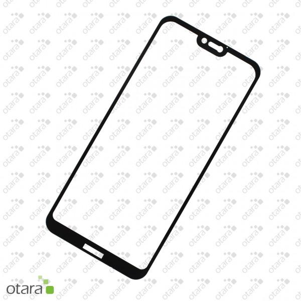 Schutzglas Edge to Edge (full glue) für Huawei P20 Lite, schwarz (ohne Retail Verpackung)