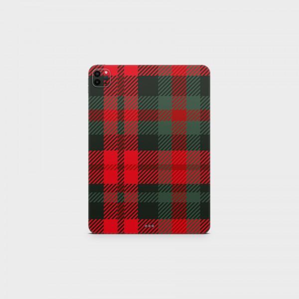 "GREEN MNKY Backcover Skin Tablet 11"" (Scottish Serie) ""Scottish Caro Red & Green"" [3 Stück]"