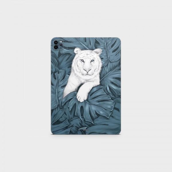 "GREEN MNKY Backcover Skin Tablet 11"" (Design Serie) ""White Tiger"" [3 Stück]"
