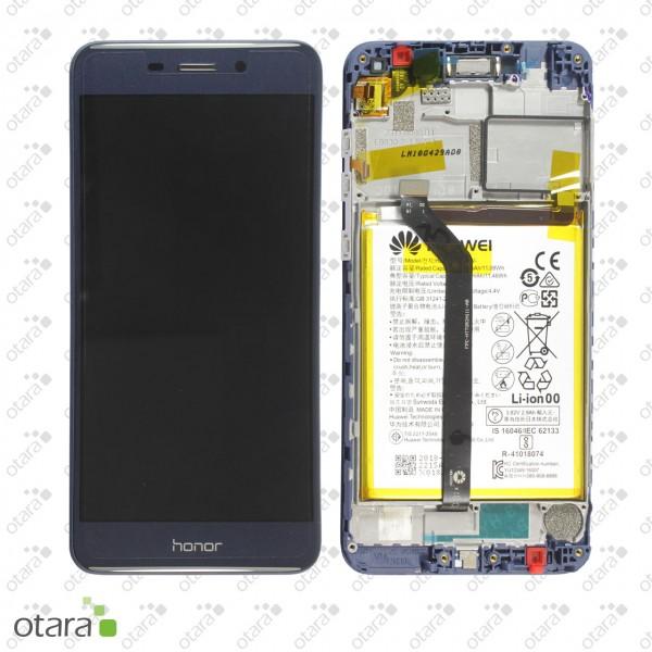 Displayeinheit inkl. Rahmen, Akku Huawei Honor 6C Pro, blue, Serviceware