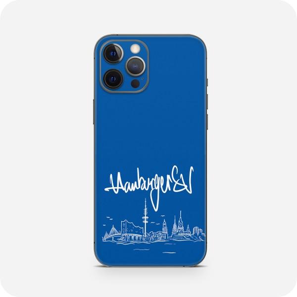 """GREEN MNKY Backcover Skin Smartphone 7"""" (HSV Kollektion) """"Hamburger SV Skyline Blue"""" [3 Stück]"""