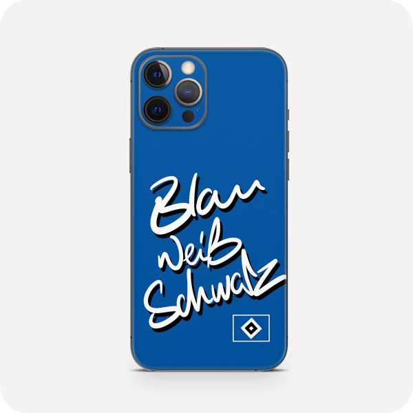 "GREEN MNKY Backcover Skin Smartphone 7"" (HSV Kollektion) ""Blau Weiß Schwarz "" [3 Stück]"