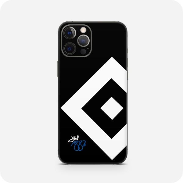 """GREEN MNKY Backcover Skin Smartphone 7"""" (HSV Kollektion) """"HSV 1887 Wappen Black """" [3 Stück]"""