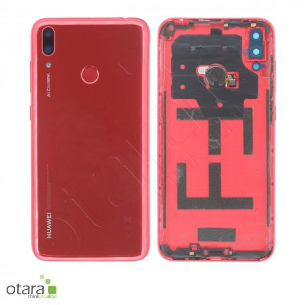 Akkudeckel Huawei Y7 2019, coral red, Serviceware