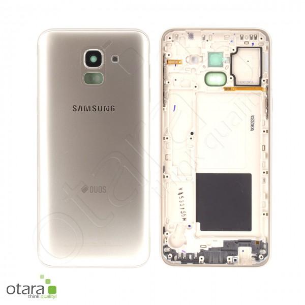 Akkudeckel Samsung Galaxy J6 2018 Duos (J600F), gold, Serviceware