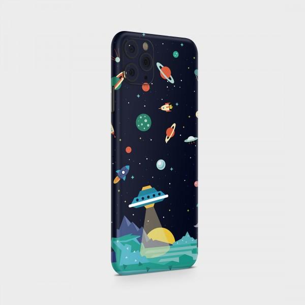 "GREEN MNKY Backcover Skin Smartphone 7"" (Design Serie) ""Cartoon Galaxy"" [3 Stück]"