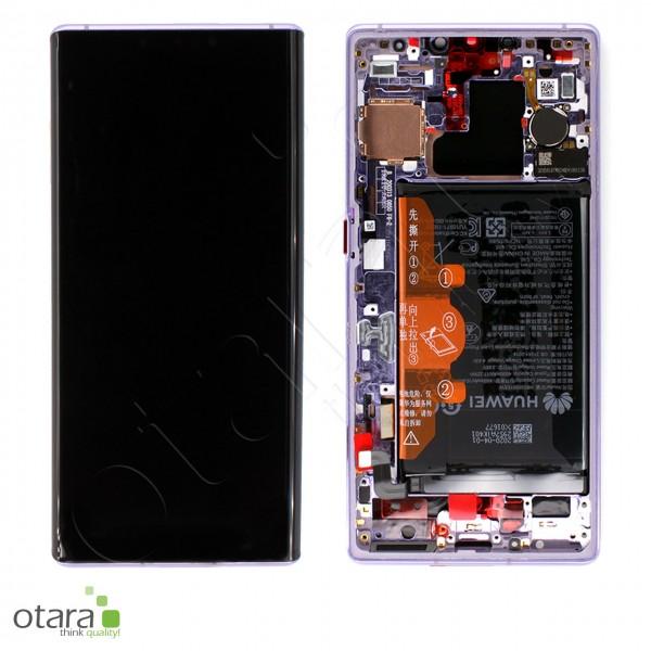 Displayeinheit inkl. Rahmen, Akku Huawei Mate 30 Pro, space silver, Serviceware