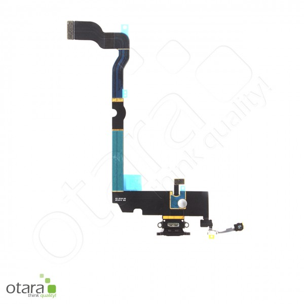 Lade Konnektor Flexkabel geeignet für iPhone XS Max (Ori/pulled Qualität), schwarz