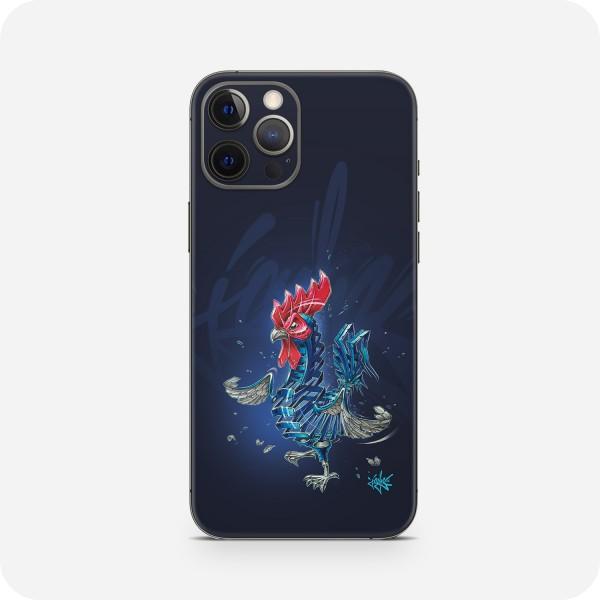 """GREEN MNKY Backcover Skin Smartphone 7"""" (Jayn Kollektion) """"Rooster"""" [3 Stück]"""