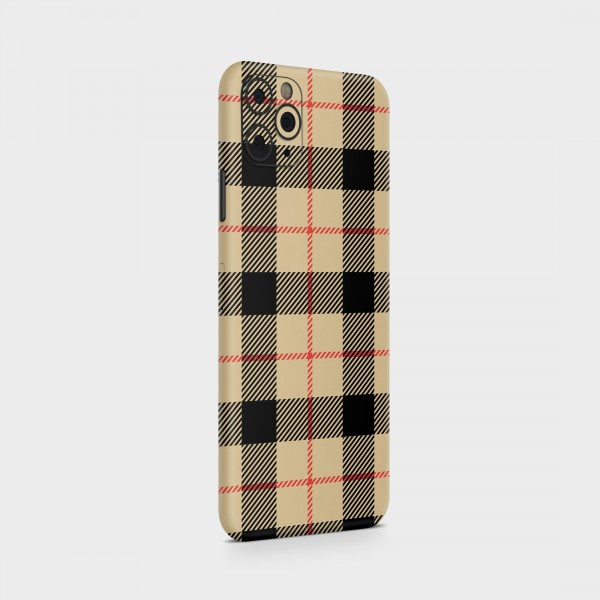 "GREEN MNKY Backcover Skin Smartphone 7"" (Scottish Serie) ""Scottish Caro Beige"" [3 Stück]"