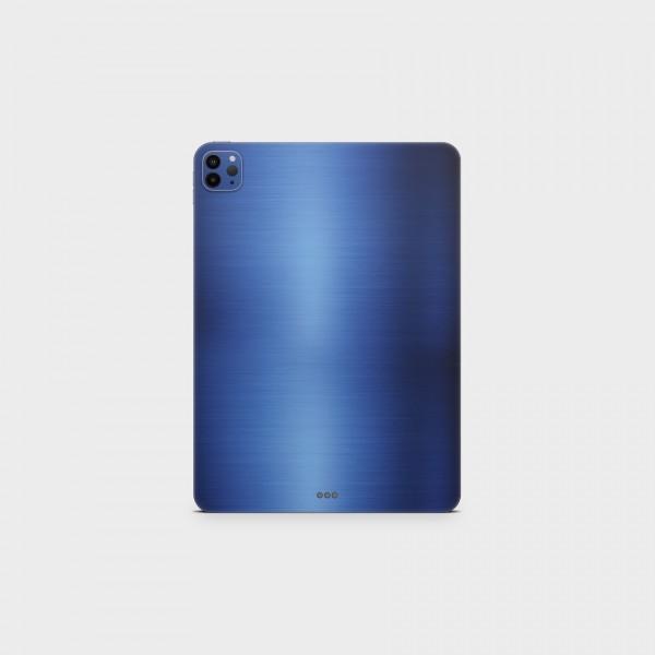 """GREEN MNKY Backcover Skin Tablet 11"""" (Struktur Serie) """"Brushed Metal Blue"""" [3 Stück]"""