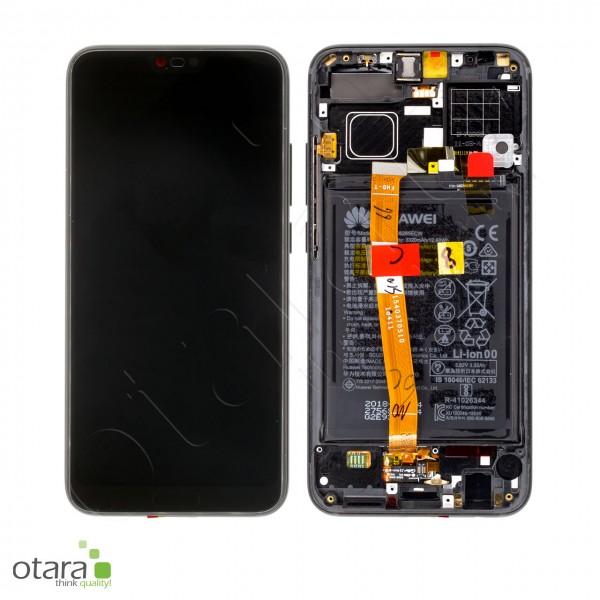 Displayeinheit inkl. Rahmen, Akku Huawei Honor 10 (COL-L29), midnight black, Serviceware